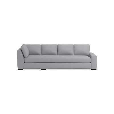 Robertson Sectional Right One Arm Cornering Sofa Down Cushion Perennials Performance Canvas Grey In 2020 Sofa Upholstery Sofa Sectional Sofa