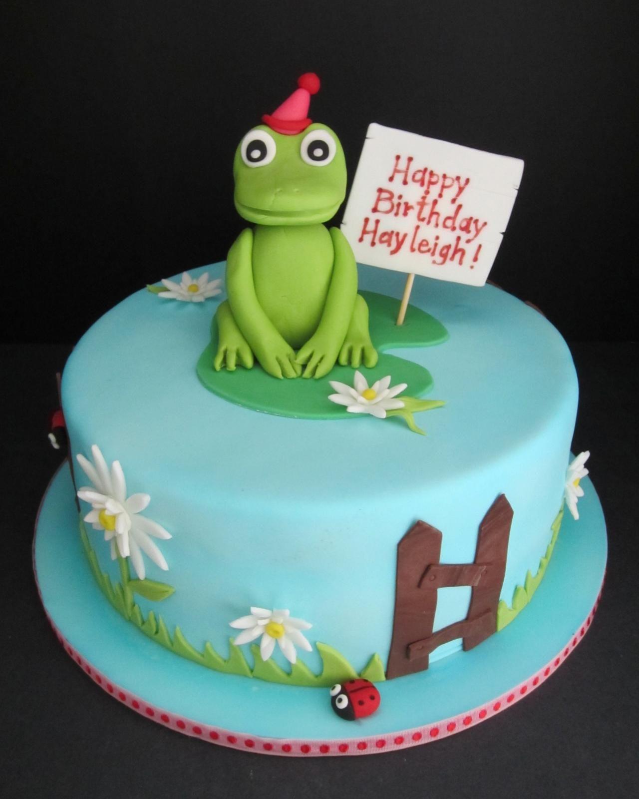frog cakes | Frog Birthday Cake - Kempenfelt Cakes, Barrie Ontario ...