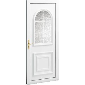 porte d 39 entr e pvc durban vitr e croisillons blancs. Black Bedroom Furniture Sets. Home Design Ideas