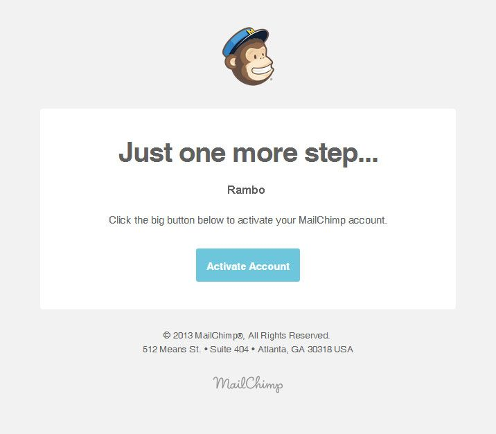 Confirmation Email Email Design From Mailchimp  Email