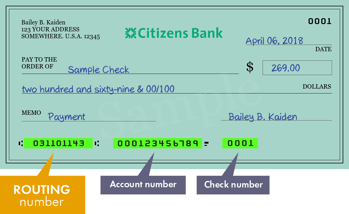 what is citizens bank routing number in ri
