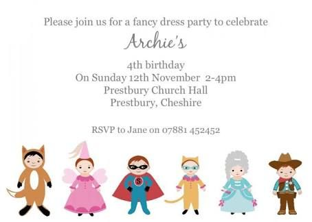 image result for fancy dress kids party invitations l birthday