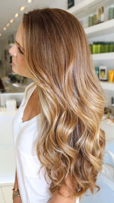 Golden Blonde Highlights Cabellos Pinte