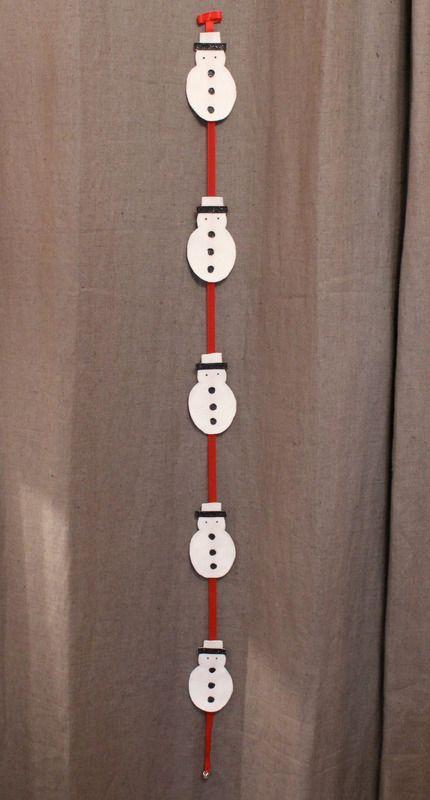 guirlande de noel bonhomme de neige maison le grenier d hupa fait maison