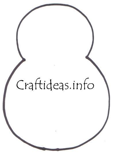 Christmas Craft - Washcloth Snowman Template crafts Pinterest