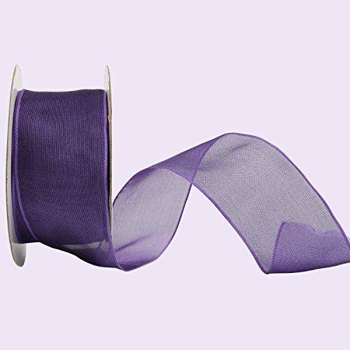 Laribbons Wired Edge Sheer Glitter Mesh Craft Ribbon for Making Bows, 1-1/2-inch By 25-yard Spool, Purple (2150) Laribbons http://www.amazon.com/dp/B017FXIODE/ref=cm_sw_r_pi_dp_Sc.Cwb1R21X00