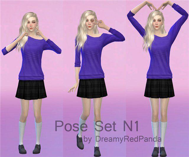Позы от DreamyRedPanda - Форум - The Sims Models