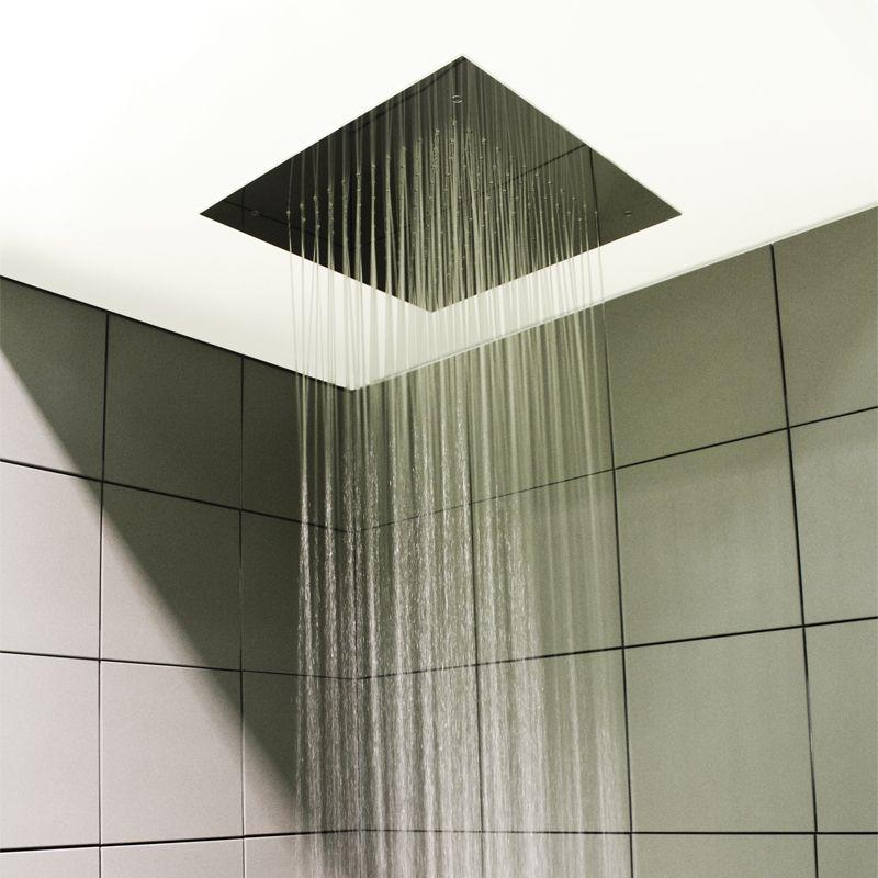 Soffione doccia per installazione ad incasso a controsoffitto - www.ladocciaitaliana.it ...