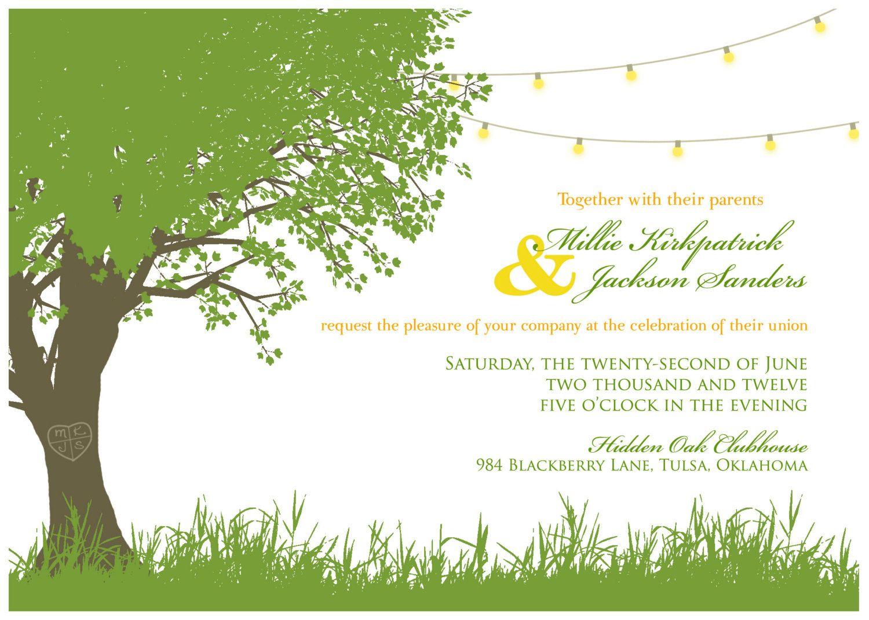 Wedding Garden Party Invitations DIGITAL Garden Party Wedding Invitations B