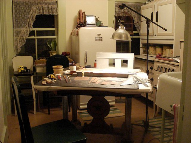 Kitchen Work Space by Michael Paul Smith, via Flickr