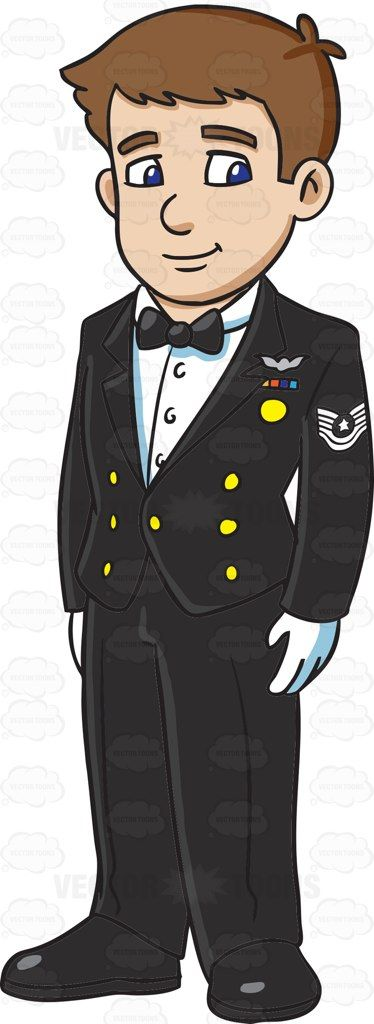 An Enlisted Man Dressed In A Us Air Force Mess Dress Uniform