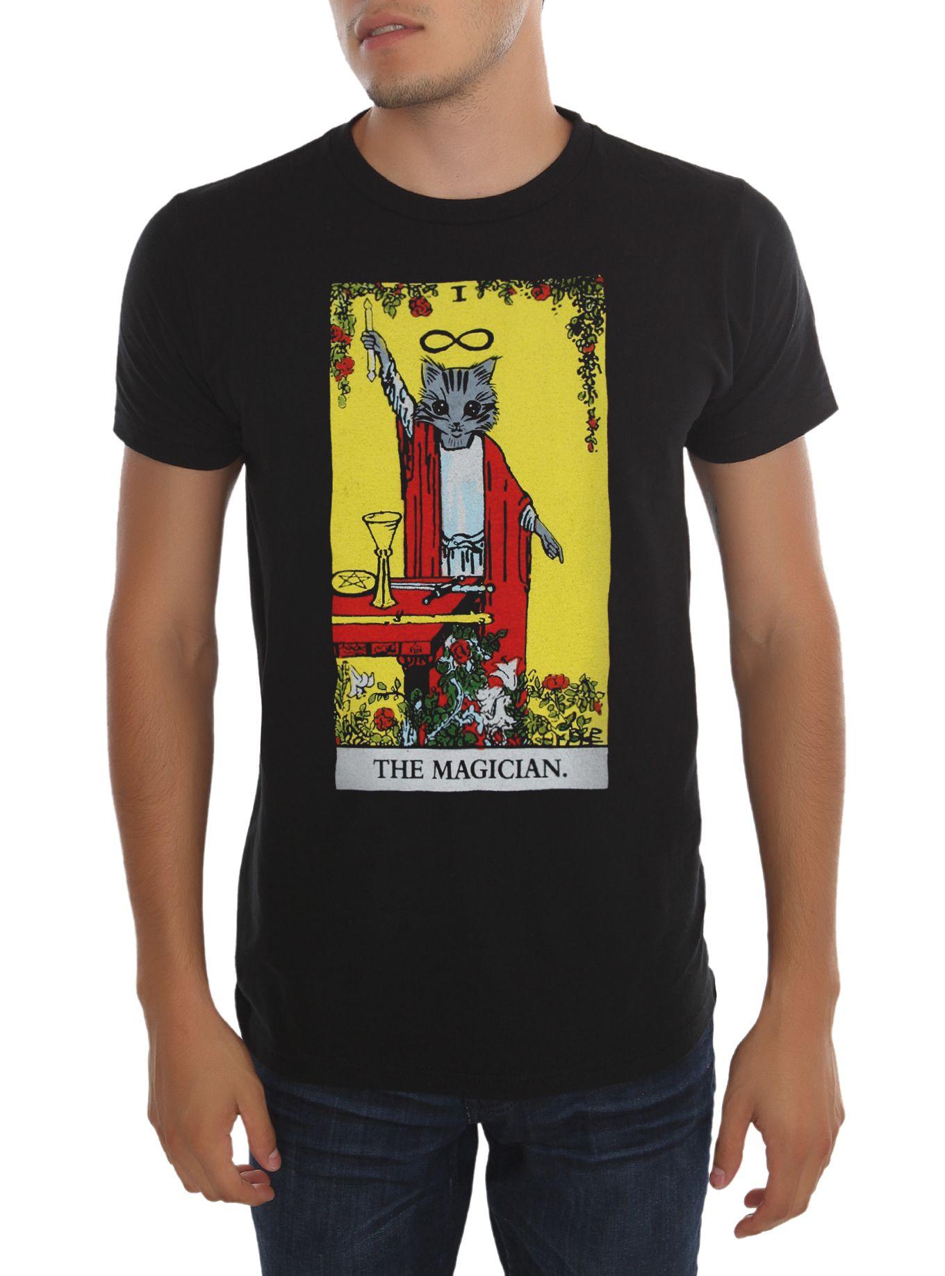9e2d32238aa2bb The Magician Cat Tarot T-Shirt