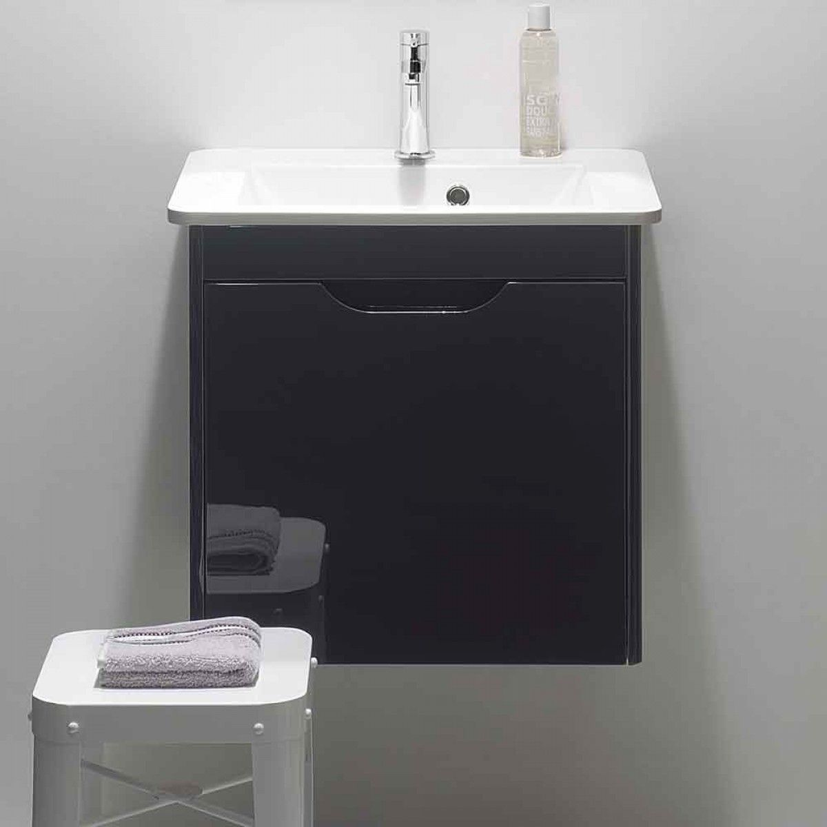 Crosswater Solo Wall Hung Vanity Unit with White Cast