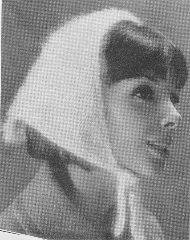 423 Pdf Head Scarf Knitting Pattern Ladies Accessories Head Wear