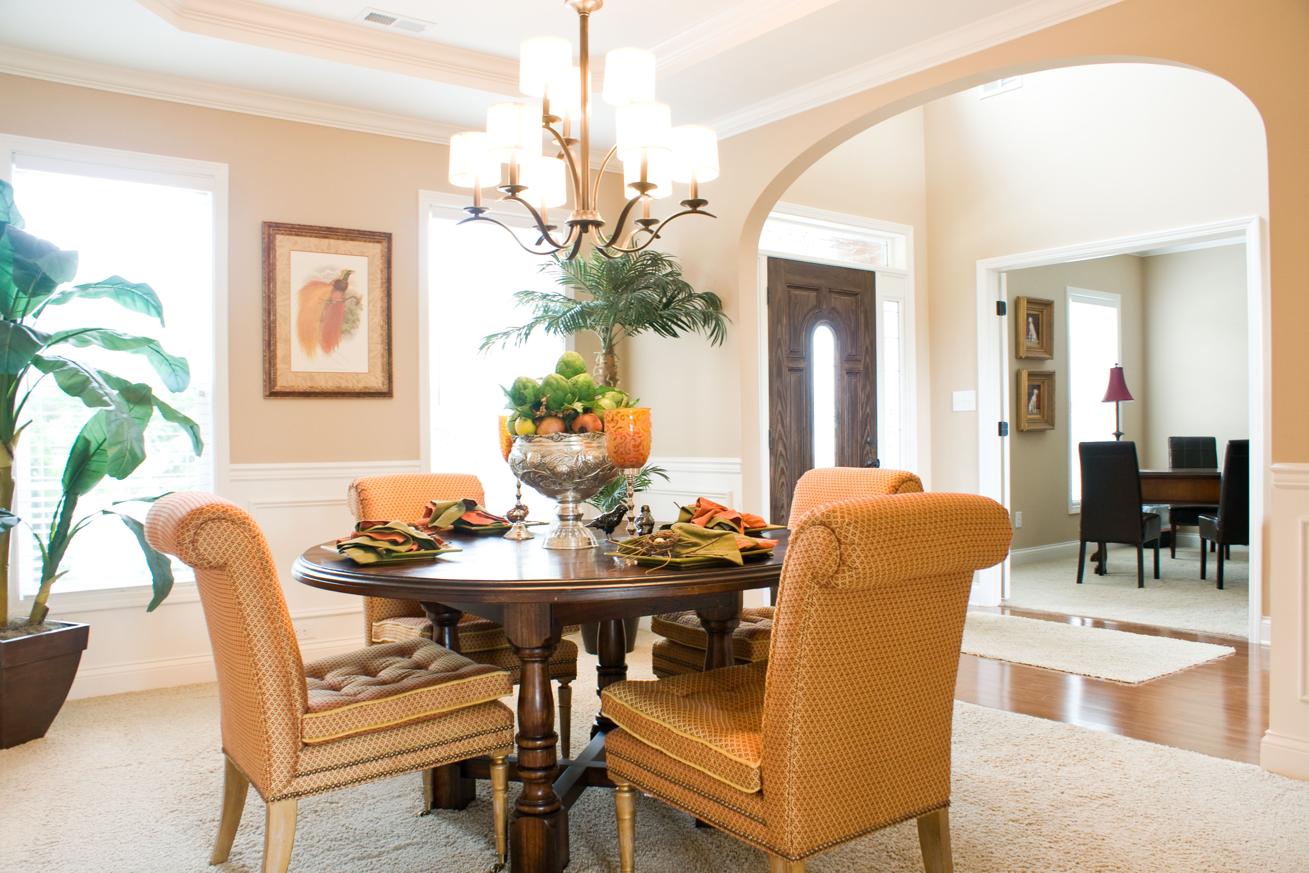 Garden Walk Dining: Formal Dining Room Of Ball Homes' Hudson Model Home