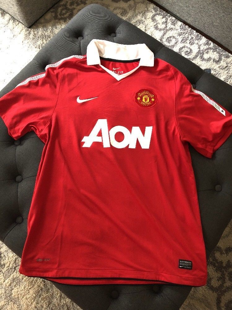 88d877c61 Nike Dri Fit Authentic Manchester United AON Jersey Red Large  Nike  Jerseys   ManchesterUnited