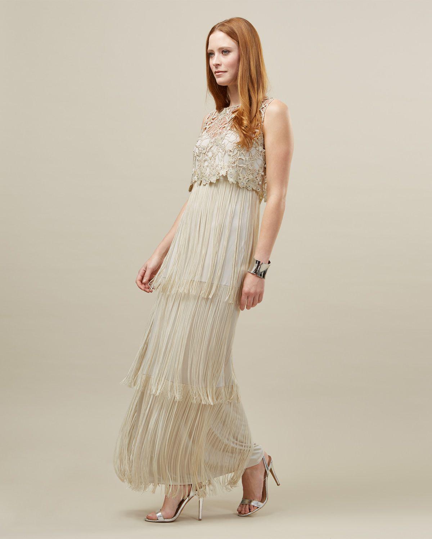 Lucille Fringe Full Length Dress | 156 - phase eight | Pinterest