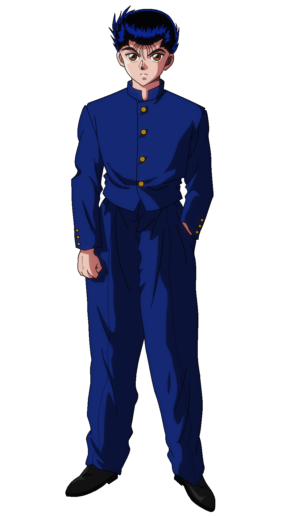 Character Yusuke School Uniform Winter Png 940 1671 Yu Yu Hakusho Anime Japanese Movie Character