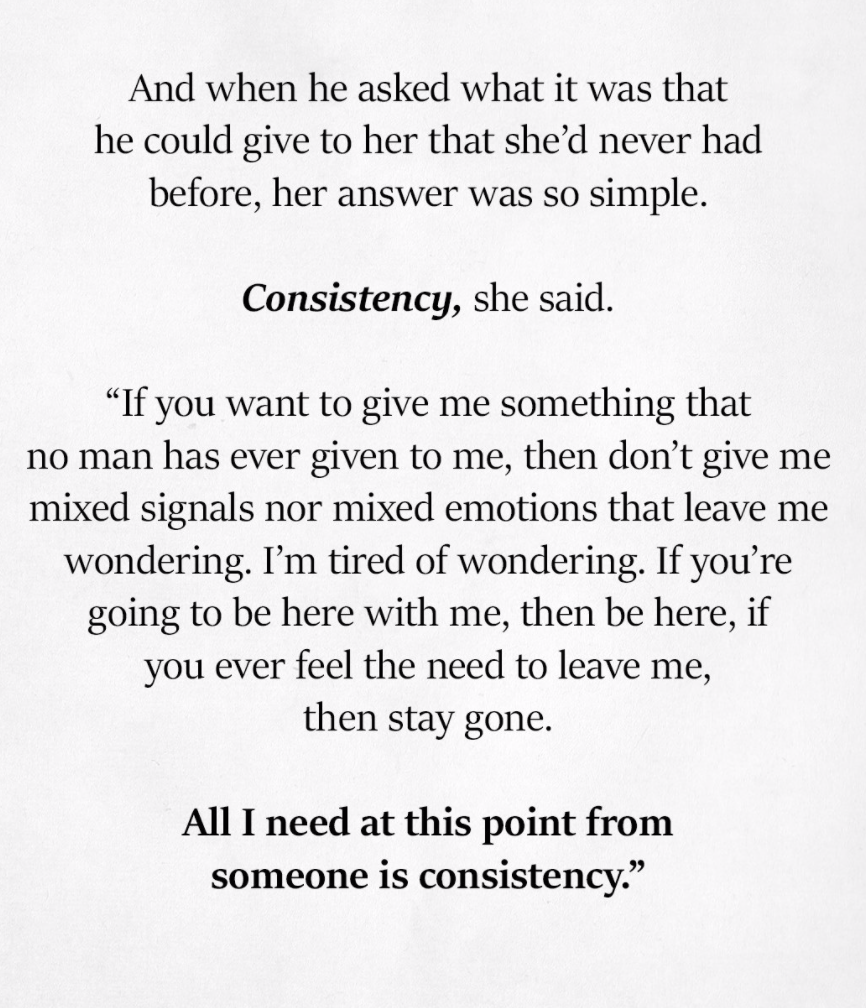Be Consistent Consistency Quotes Relationships Consistency Quotes Relationship Quotes