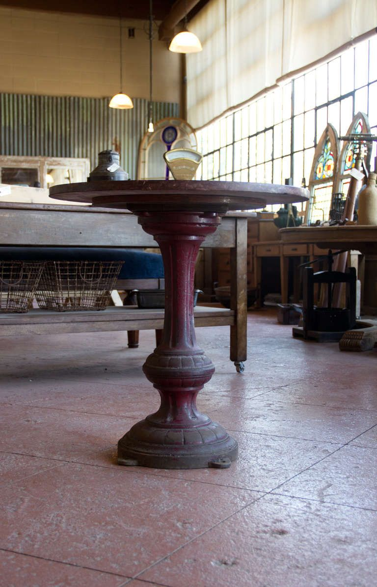 1stdibs | Antique English Marble Topped Pub Table