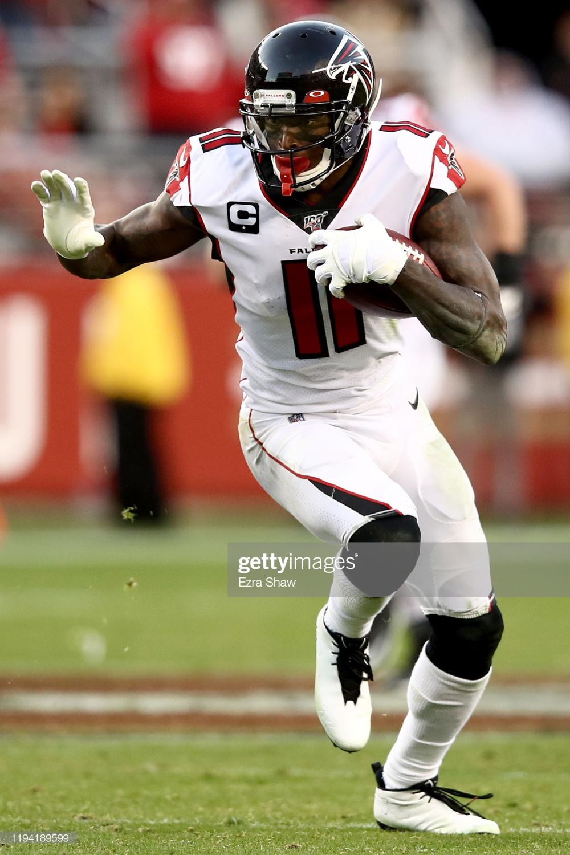 Wide Receiver Julio Jones Of The Atlanta Falcons Carries The Ball Julio Jones Wide Receiver Atlanta Falcons