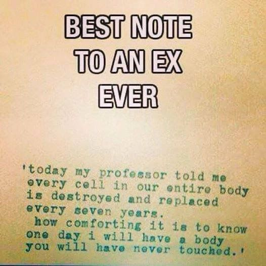 #science #fact #lovethis #6moreyears #ex #ex's #lovethis #cells #body #destroyed #replaced by queenofthevines09 http://ift.tt/211UJrb