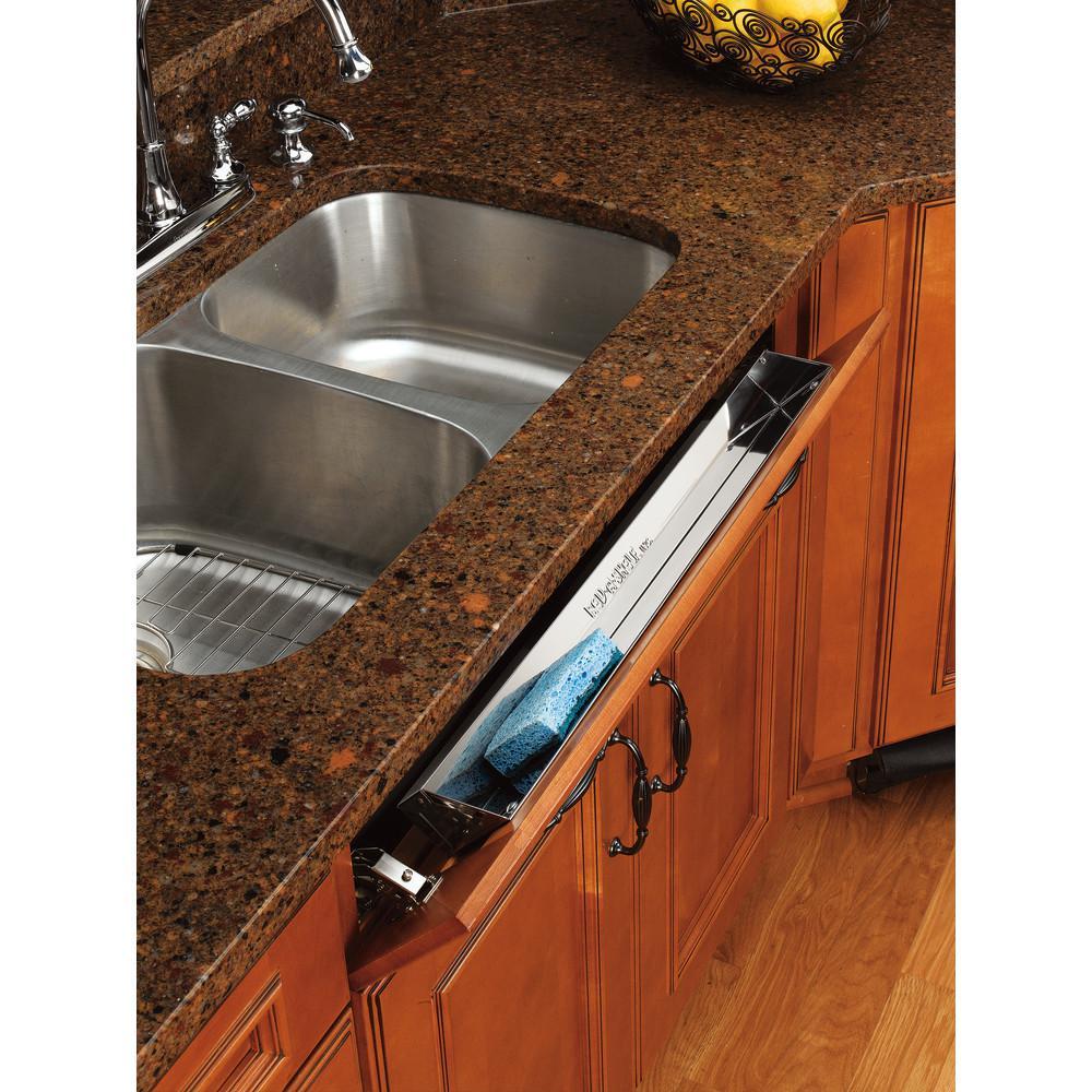 Rev A Shelf 3 In H X 22 In W X 1 688 In D Stainless Tip Out Sink Front Tray 6541 22 52 In 2020 Rev A Shelf Sink Shelves