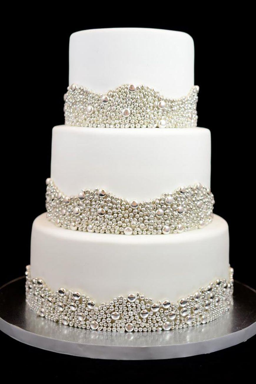 Wedding Ideas by Colour: Silver Wedding Cake Decorations | CHWV ...