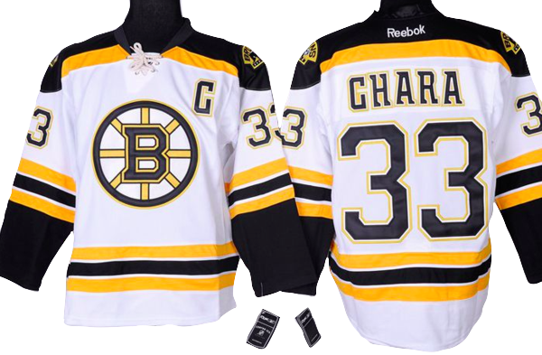 check out 8af34 c35bf Boston Bruins Jersey - #33 Zdeno Chara White Jersey with C ...