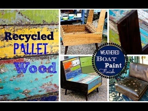 How To Chippy Paint Finish Aka Boat Wood Look With Chalk And Clay Paint Debis Design Diary Boat Paint Paint Finishes Wood Pallets