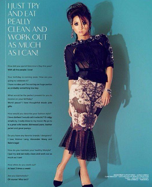 Brenda Song inside Glamoholic Magazine!