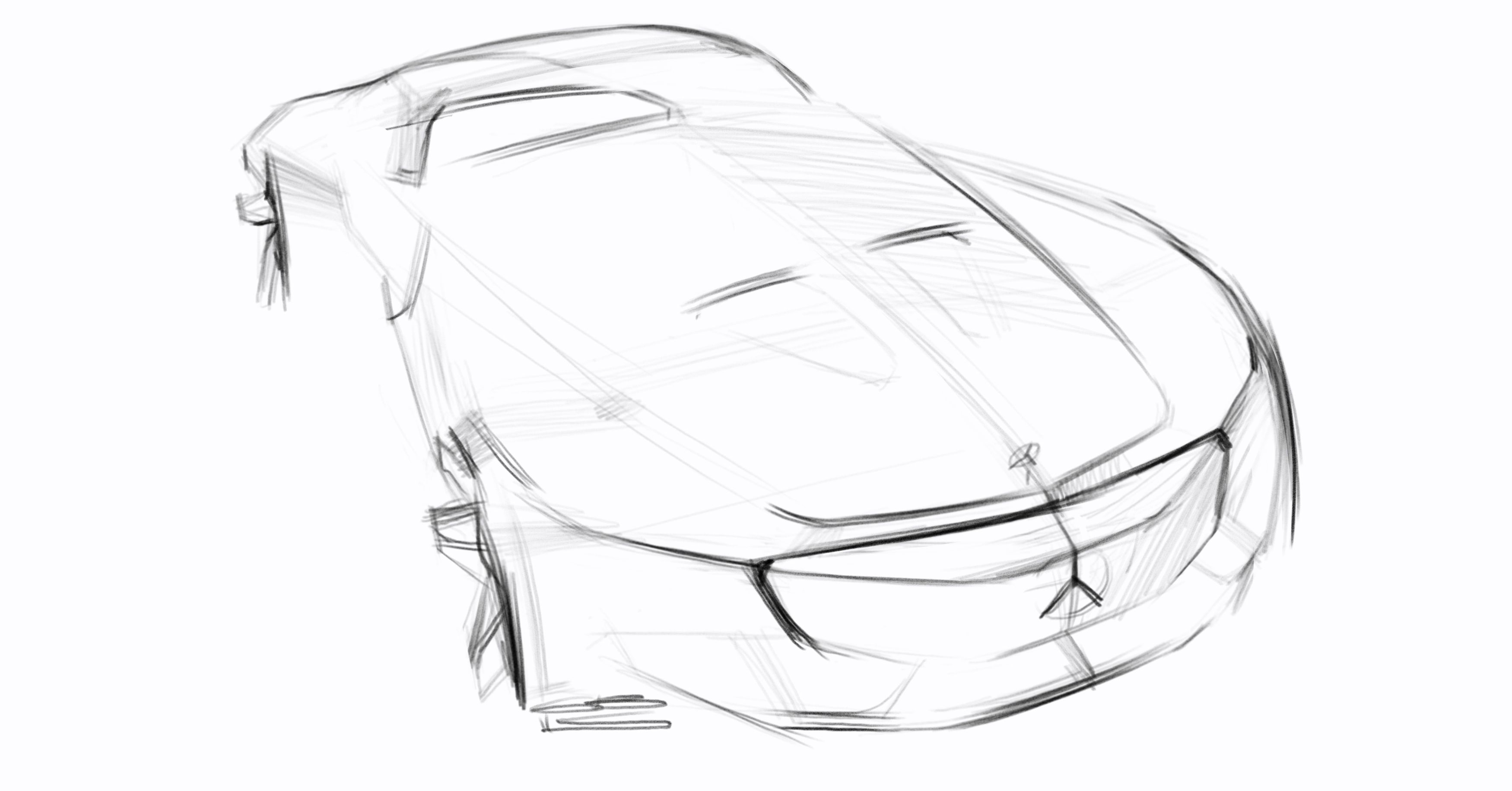 Car design sketches #7 on Behance