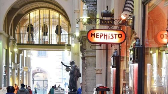 "Die ""Mephisto""-Bar in der Mädlerpassage"