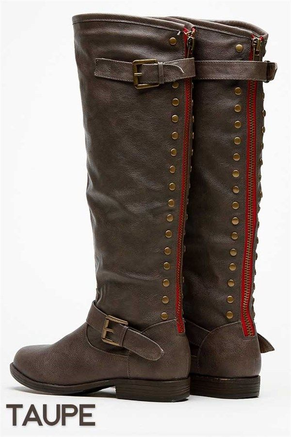 Clearance* Super Chic Back Studded Riding Boot | Riding boots ...