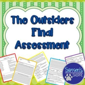 The Outsider Final Assessment Teacher Image Essay Question Created Resources And Answers