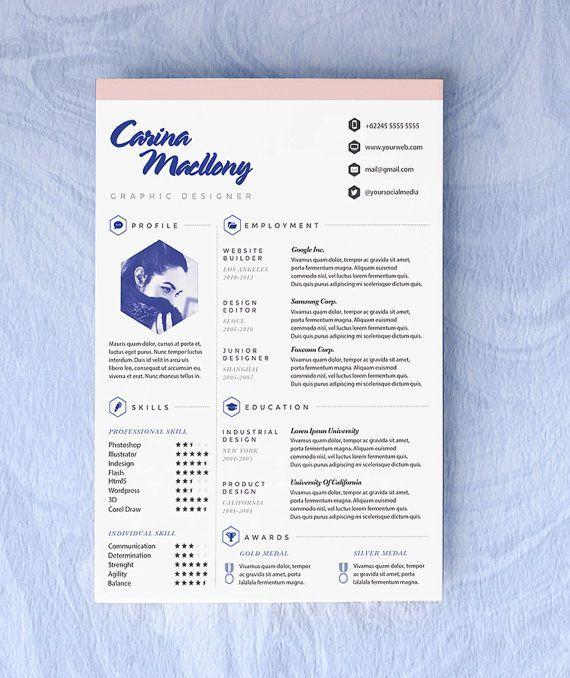 Customized #Resume #CV #Design For The Creative by\u2026 Resume Design