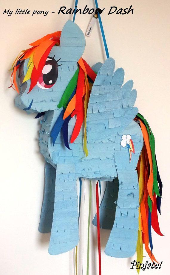 Mi peque o pony rainbow dash pi ata regalo de por - Regalos para pinatas ...
