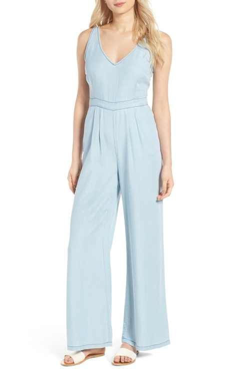 d893ccc34979 cupcakes and cashmere Deven Chambray Jumpsuit