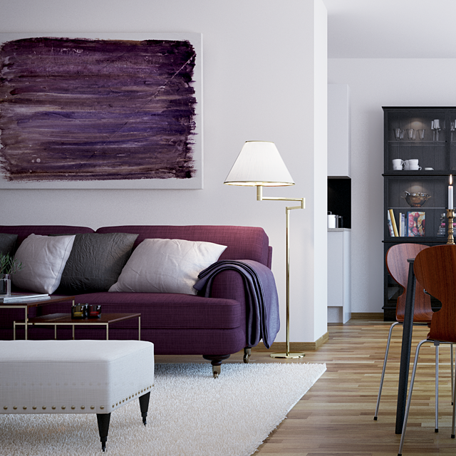 Best Scandinavian Style City Living Cute Living Room Purple 400 x 300