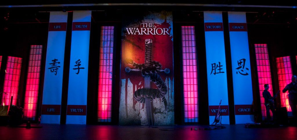 Are you a warrior church stage design church stage