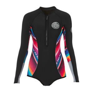 37efe49631 Rip Curl Wetsuits - Rip Curl Womens G Bomb 1mm High Cut Sublimated Long  Sleeve Shorty