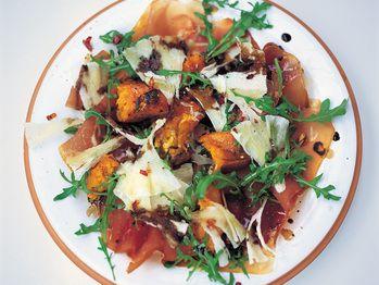 """Warm Salad of Roasted Squash, Prosciutto and Pecorino"" from Cookstr.com #cookstr"
