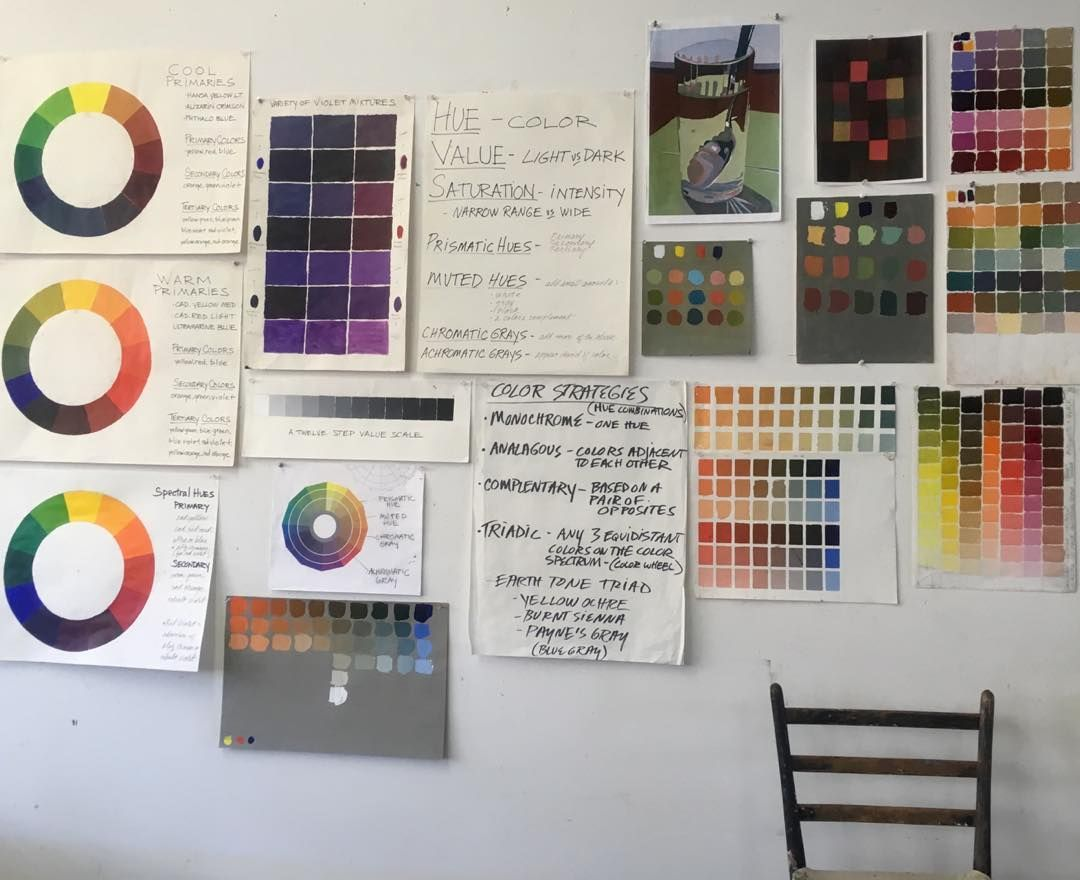 """Karuna on Instagram: """"This is my weekend, Color and Design 3 day workshop with Mark Eanes in his beautiful Benicia home studio. #color #artislife #lifeisart…"""""""
