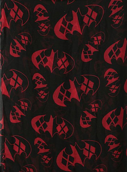 This Batman And Harley Quinn Logo Scarf Is Crazy Fashionable Show This To Michelle Joker And Harley Quinn Harley Quinn Joker And Harley