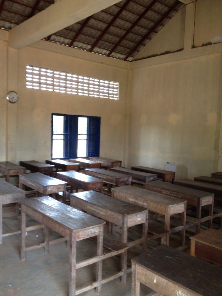 Classroom.  Cambodia
