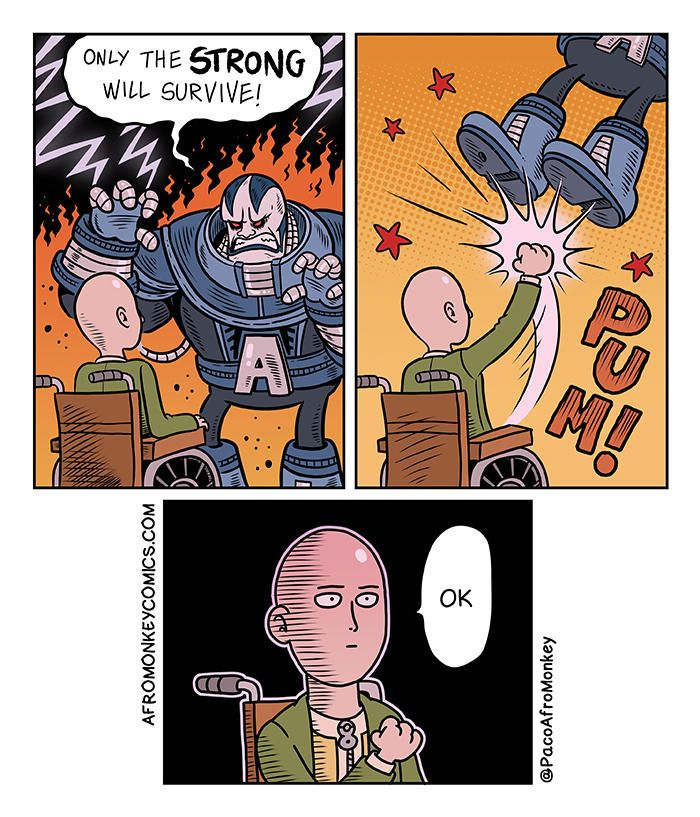 Wrong baldy - PacoAfroMonkey | One punch man, Comics, Best ...