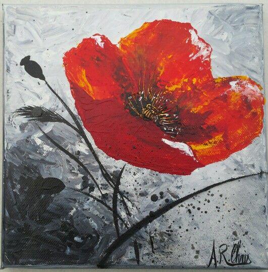 Artiste Raffin Christine Peinture Acrylique Sur Toile 20x20