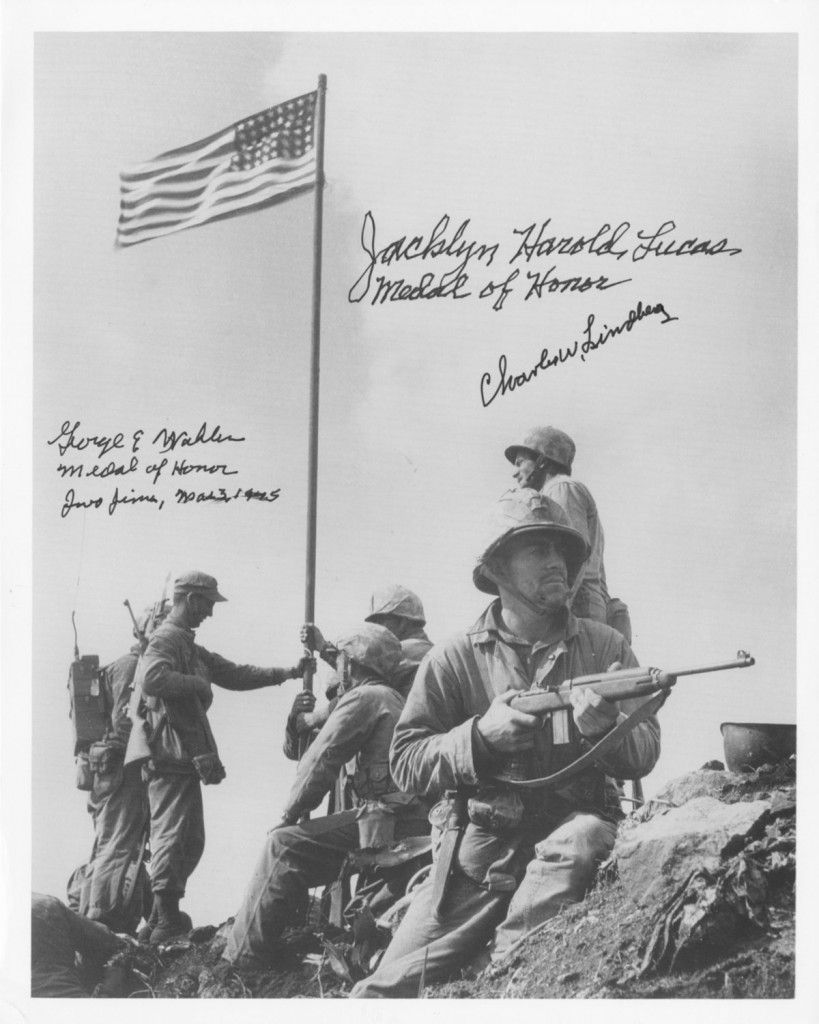Iwo Jima Photograph Of Mt Suribachi Flag Raising Signed Medal Of Honor Heroes 819x1024 Jpg 819 1024 Medal Of Honor Iwo Jima Battle Of Iwo Jima