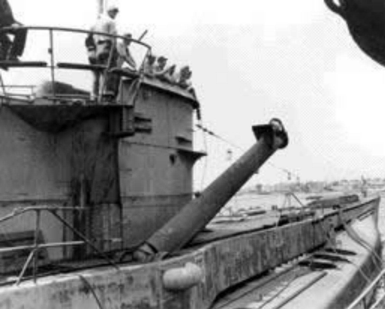 American Sailors Examine The Snorkel Of A Surrendered U