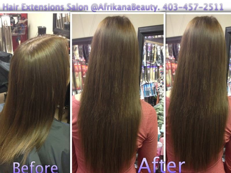 Calgary Hair Extensions Beforeampafter Hair Extensions
